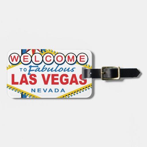 Recepción a Las Vegas fabuloso Etiquetas Bolsa