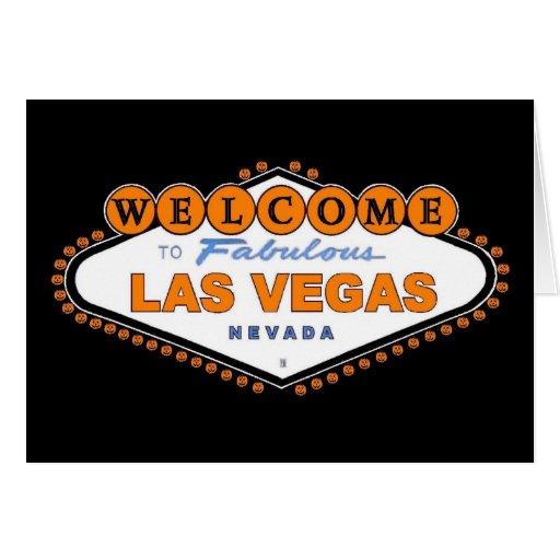 """Recepción a Las Vegas fabuloso """"feliz Halloween"""" Tarjeta De Felicitación"""