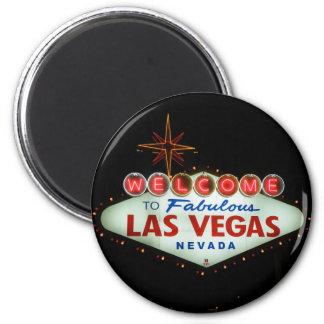 Recepción a Las Vegas fabuloso - Nevada Imán Redondo 5 Cm