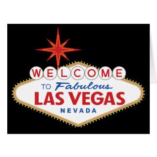 Recepción a Las Vegas fabuloso, Nevada Tarjeta De Felicitación Grande