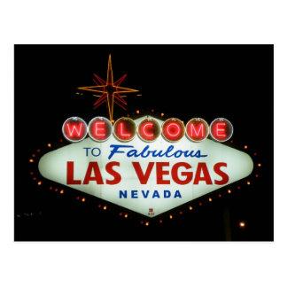 Recepción a Las Vegas fabuloso - Nevada Tarjeta Postal