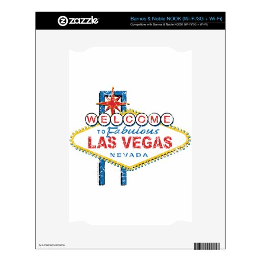 Recepción a Las Vegas fabuloso NOOK Calcomanía
