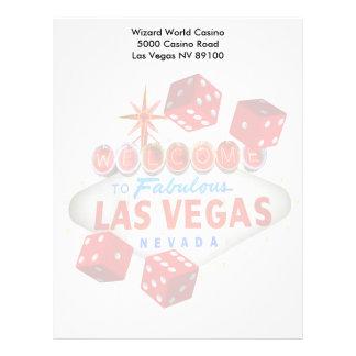 Recepción a Las Vegas fabuloso + Papel con membret Membrete