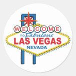 Recepción a Las Vegas fabuloso Pegatina Redonda