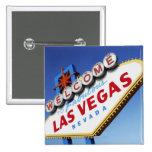 Recepción a Las Vegas fabuloso Pin Cuadrada 5 Cm