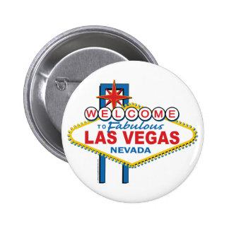 Recepción a Las Vegas fabuloso Pin Redondo De 2 Pulgadas