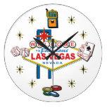 Recepción a Las Vegas fabuloso Reloj Redondo Grande