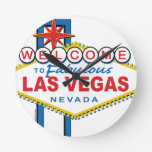 Recepción a Las Vegas fabuloso Reloj Redondo Mediano