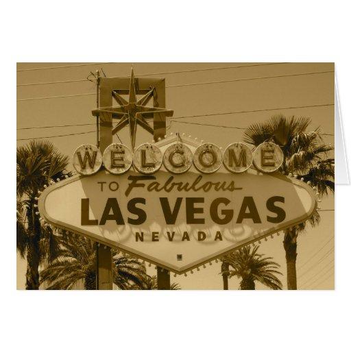 Recepción a Las Vegas fabuloso Tarjeta De Felicitación