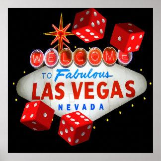 Recepción a Las Vegas + Gráfico de vector de los d Póster