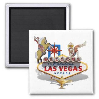 Recepción a Las Vegas Imán Cuadrado