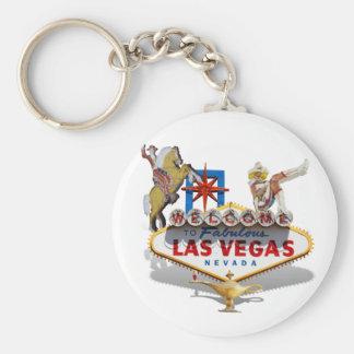 Recepción a Las Vegas Llavero Redondo Tipo Pin