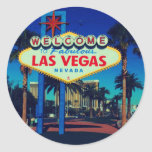 ¡Recepción a Las Vegas! Pegatina Redonda