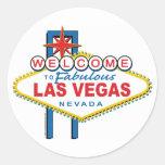 Recepción-a-Las-Vegas Pegatina Redonda