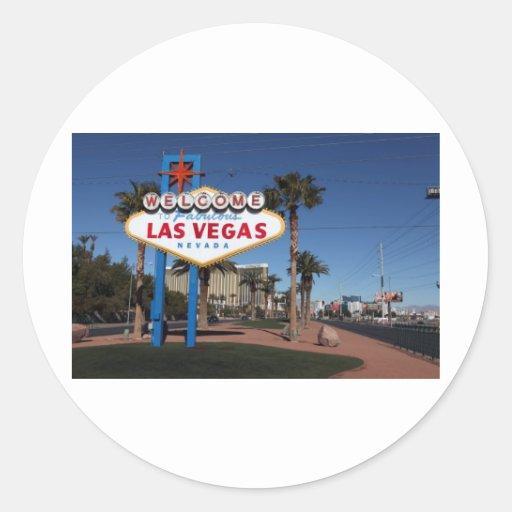 Recepción a Las Vegas Pegatina Redonda