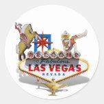 Recepción a Las Vegas Pegatinas Redondas