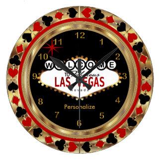 ¡Recepción a Las Vegas! Reloj Redondo Grande