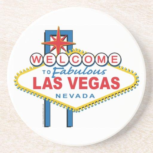 Recepción-a-Las-Vegas retro Posavasos Para Bebidas