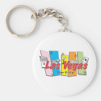 Recepción a Las Vegas Sin City Llavero Redondo Tipo Pin