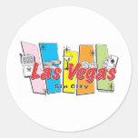 Recepción a Las Vegas Sin City Pegatina Redonda