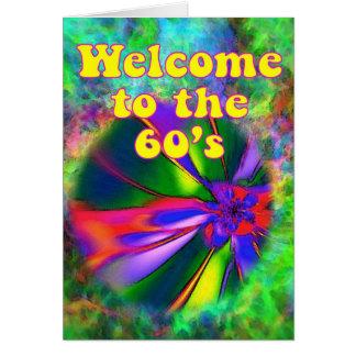 Recepción a los años 60 tarjeta de felicitación