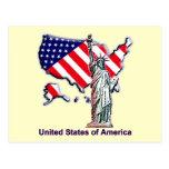 Recepción a los E.E.U.U. Tarjeta Postal