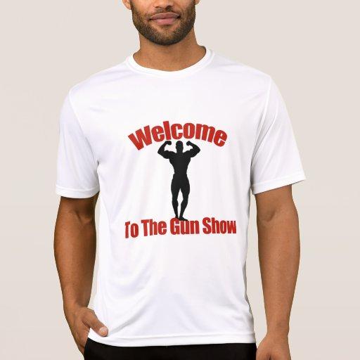 Recepción a los músculos de la demostración de camisetas