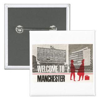 Recepción a Manchester Pin Cuadrado