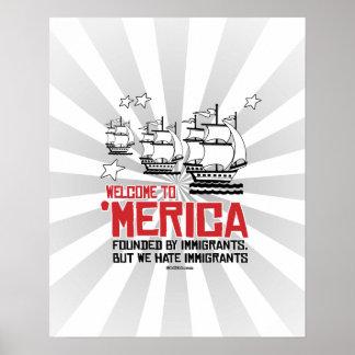 Recepción a Merica - fundado por los inmigrantes Póster