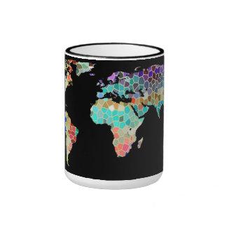 Recepción a mi mundo colorido taza de café