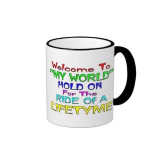 """Recepción a """"mi mundo """" tazas de café"""