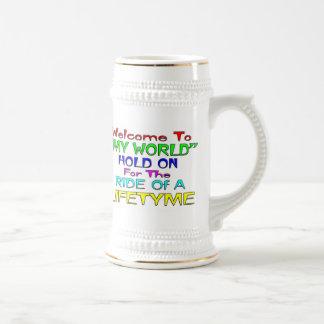 """Recepción a """"mi mundo """" taza de café"""
