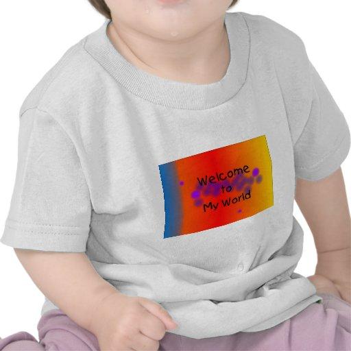 Recepción a mi ropa del bebé del mundo camiseta