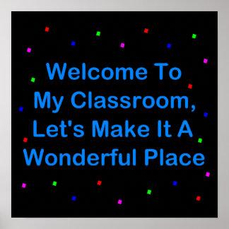 Recepción a mi sala de clase póster