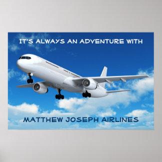 ¡Recepción a mi sitio! (Aeroplano) Póster