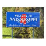 Recepción a Mississippi Tarjeta Postal