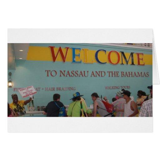 Recepción a Nassau Tarjeta