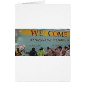 Recepción a Nassau Tarjeta De Felicitación