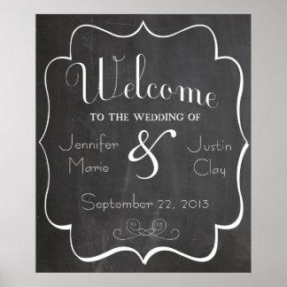 Recepción a nuestra muestra o poster del boda