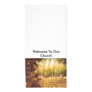 Recepción a nuestra tarjeta de la iglesia tarjeta fotografica personalizada