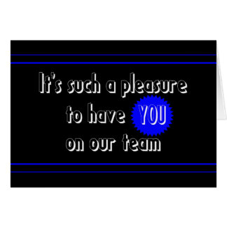 Recepción a nuestra tarjeta del equipo