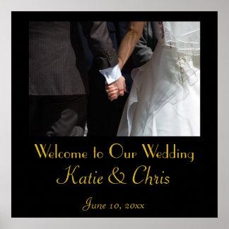 Recepción a nuestro boda póster