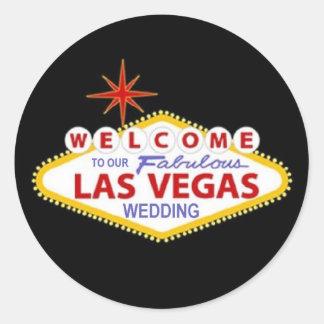 Recepción a nuestro Las Vegas fabuloso que casa al Pegatina Redonda