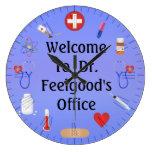 Recepción a Office Customizable Clock del doctor Relojes De Pared