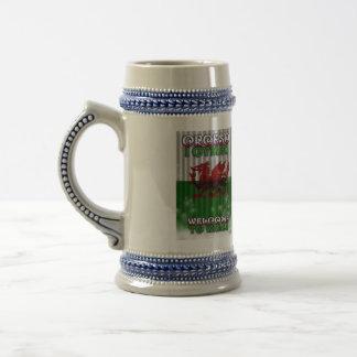 recepción a País de Gales, Croeso I Gymru Jarra De Cerveza