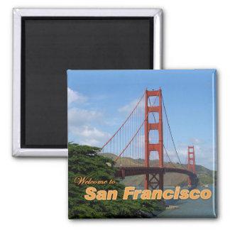 Recepción a San Francisco - puente Golden Gate Imán Cuadrado