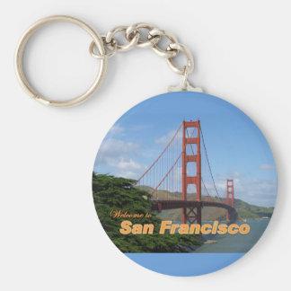 Recepción a San Francisco - puente Golden Gate Llavero Redondo Tipo Pin