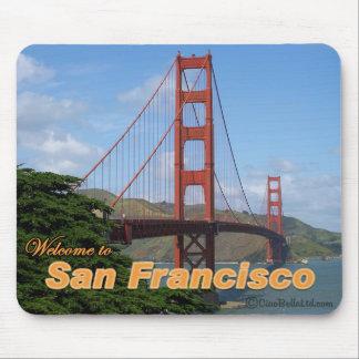 Recepción a San Francisco - puente Golden Gate Tapetes De Ratón