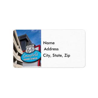 Recepción a Springfield Etiquetas De Dirección