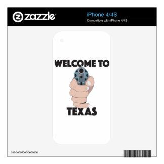 Recepción a Tejas iPhone 4 Skins